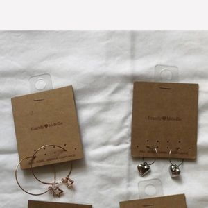 Star and Heart Hoop Earrings BNWT ONLY TWO LEFT
